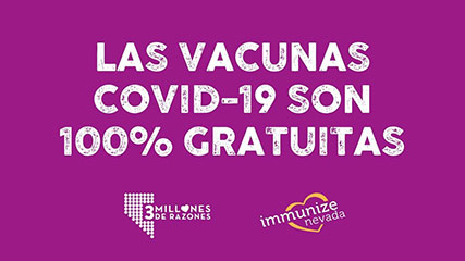 Graphic for Twitter about Free COVID-19 Vaccine in Spanish