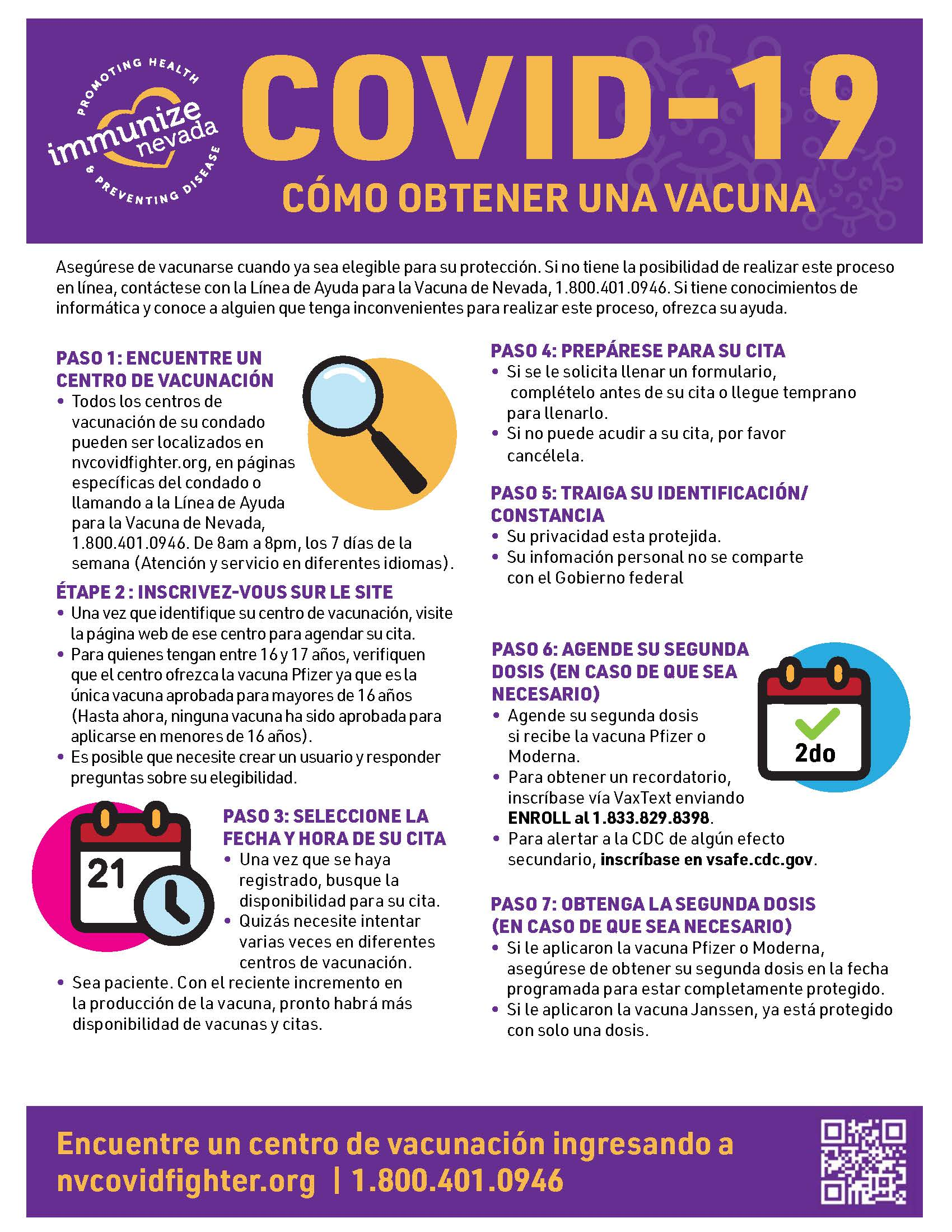 COVID-19 Vaccine Appointment Steps Flyer Spanish ADA_v1