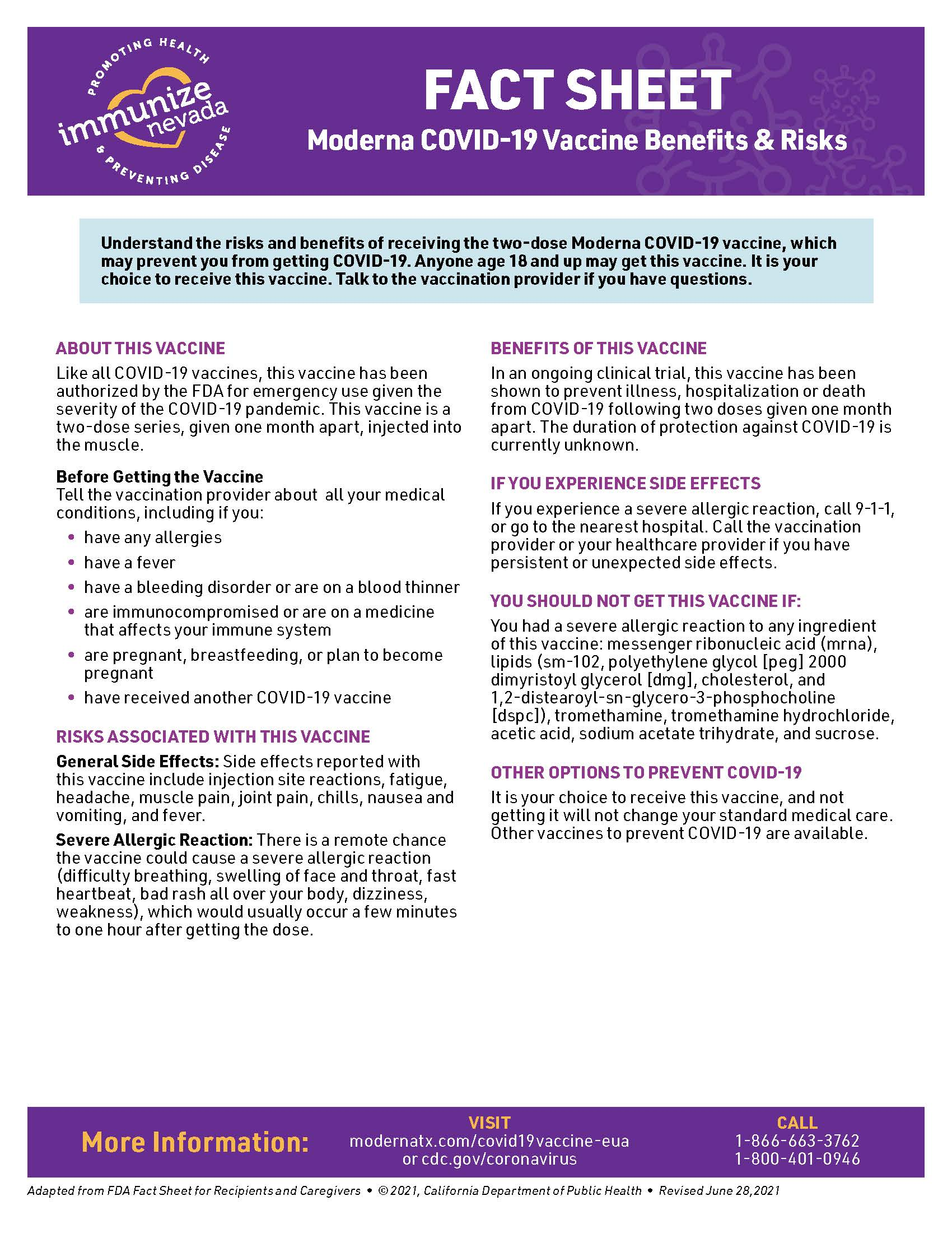 fact sheet about the Moderna COVID-19 vaccine. this PDF is ada accessible