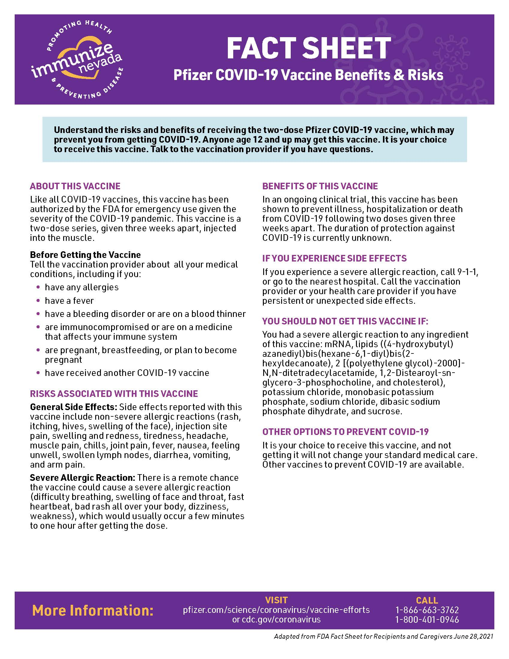 fact sheet about the Pfizer COVID-19 vaccine. this PDF is ada accessible